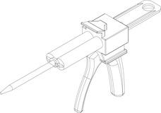 Automix-Pistole für VSG-Kleber DORMAKABA