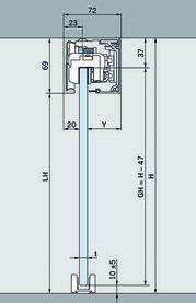 Komplett-Set Schiebetürbeschläge DORMA MUTO 150, Deckenmontage