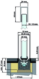 Türstopper zu Schiebetüren ASTEC b.1000