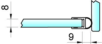 Duschtürdichtungen 90° 8861 PAULI+SOHN