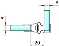 Magnetduschtürdichtungen 90° PAULI+SOHN