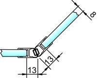 Magnetduschtürdichtung 135° PAULI+SOHN