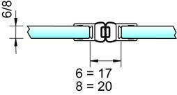 Magnetduschtürdichtungen 180° 8850 PAULI+SOHN