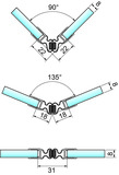 Magnetduschtürdichtung flexibel 90-180° PAULI+SOHN
