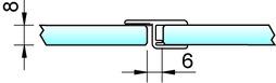 Duschtürdichtungen 180° PAULI+SOHN mit Anschlag