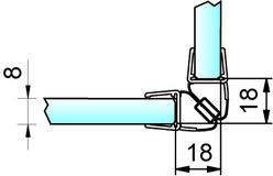 Magnetduschtürdichtungen 90° PAULI+SOHN – Chromdekor