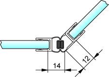 Magnetduschtürdichtungen 135° PAULI+SOHN – Chromdekor