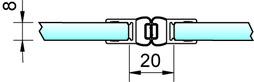Magnetduschtürdichtungen 180° PAULI+SOHN - Chromdekor