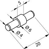 Sicherungsstift zu Klemmprofil PAULI+SOHN