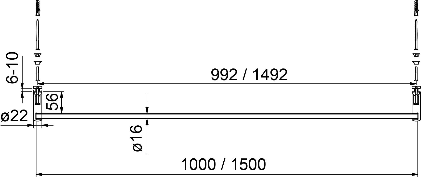 Handtuchhalter 8686 PAULI+SOHN