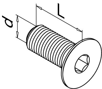 Inbusschrauben mit Senkkopf DIN 7991