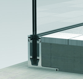 Glasgeländersystem-Profilset cp-1400 PAULI+SOHN