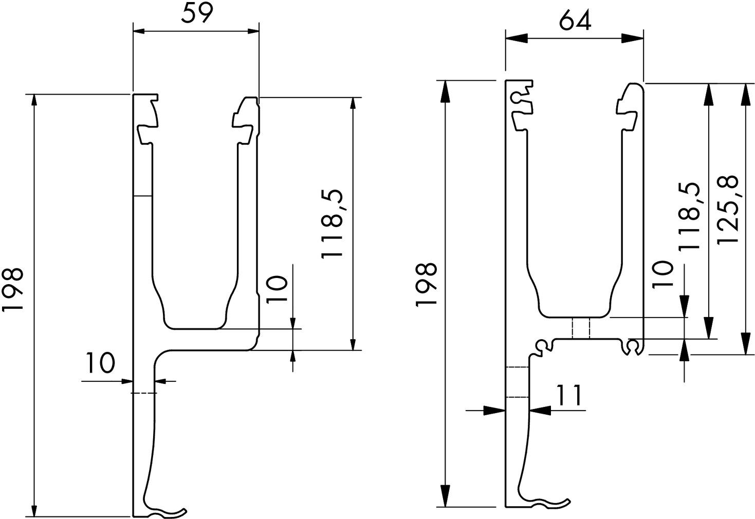 Glasgeländerprofil cp-1402 PAULI+SOHN