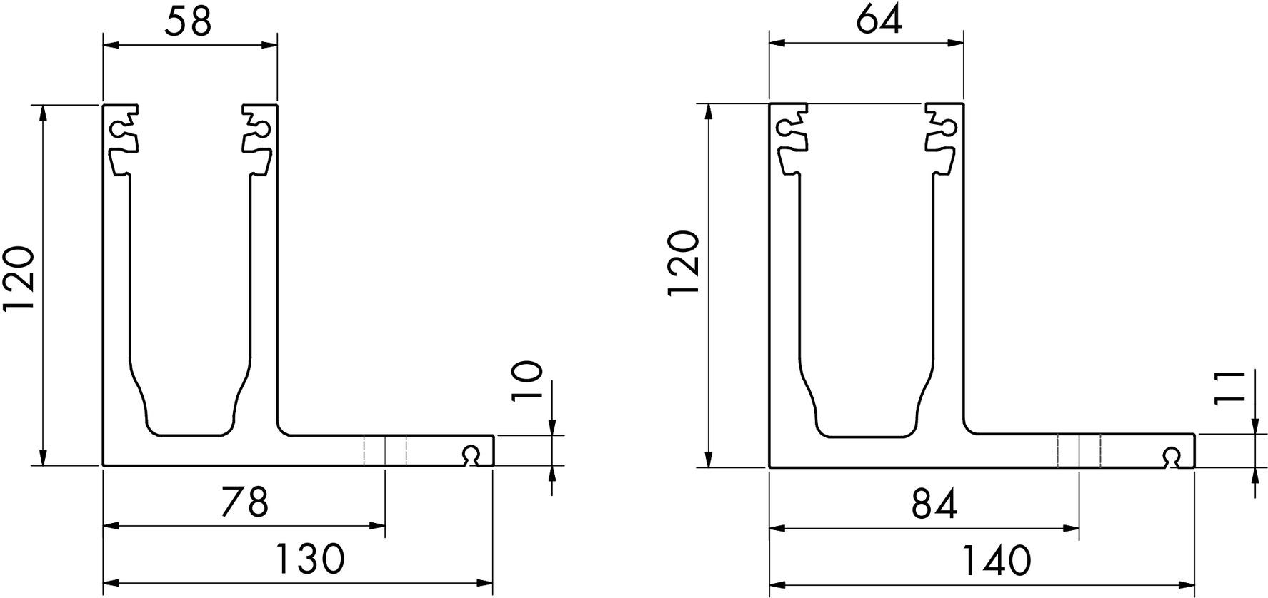 Glasgeländerprofil cp-1400 PAULI+SOHN