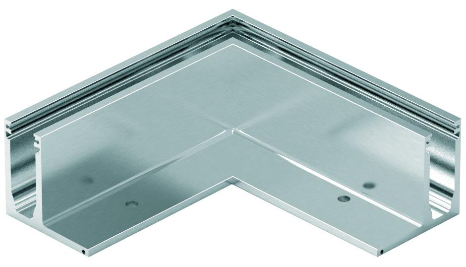 Aussenecken-Set zu Glasgeländerprofil cp-1400 PAULI+SOHN