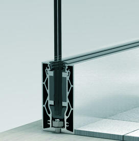 Glasgeländersystem-Profilset cp-1404 PAULI+SOHN