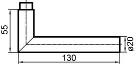 Türdrücker GLUTZ Topaz 30.030