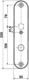 Schutztürschilder aussen GLUTZ 5432.2S-RS