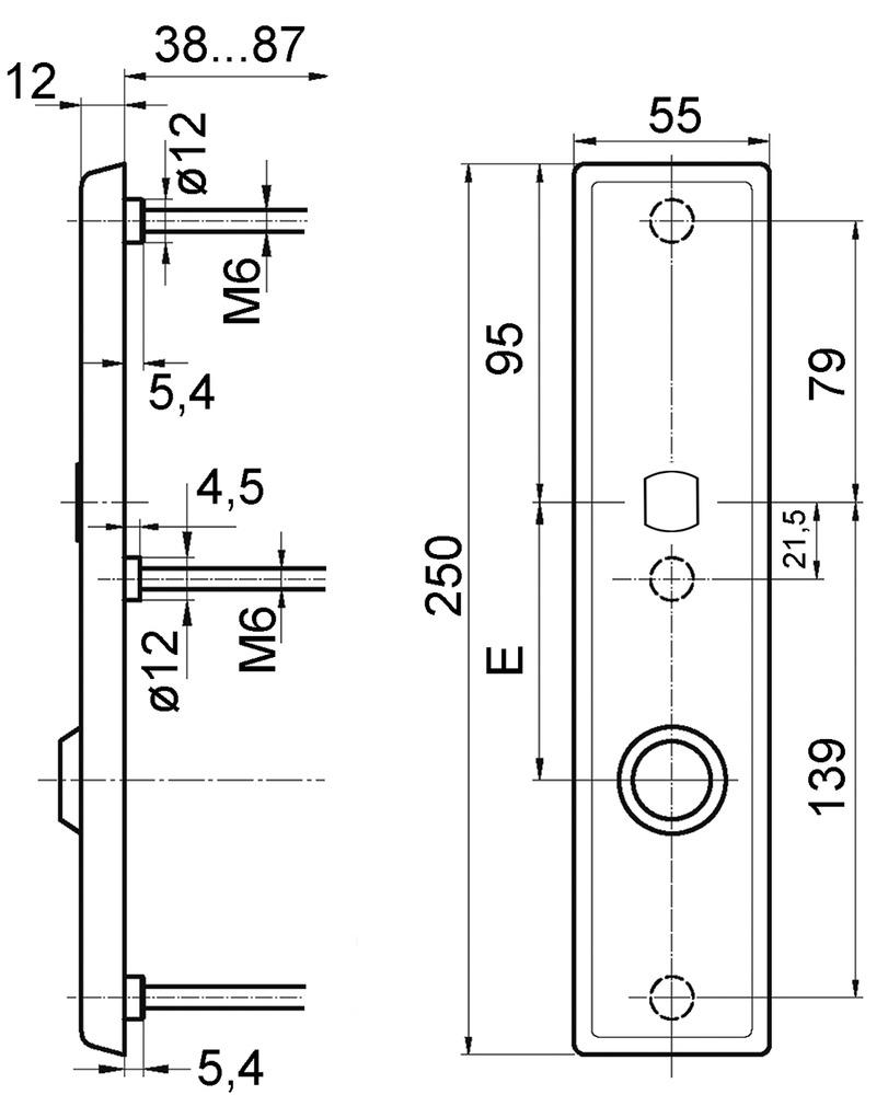 Schutztürschilder aussen GLUTZ 6152.2S-RS