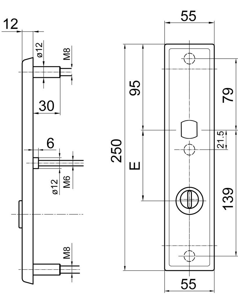 Schutztürschilder aussen GLUTZ 6161K.2S-ZA