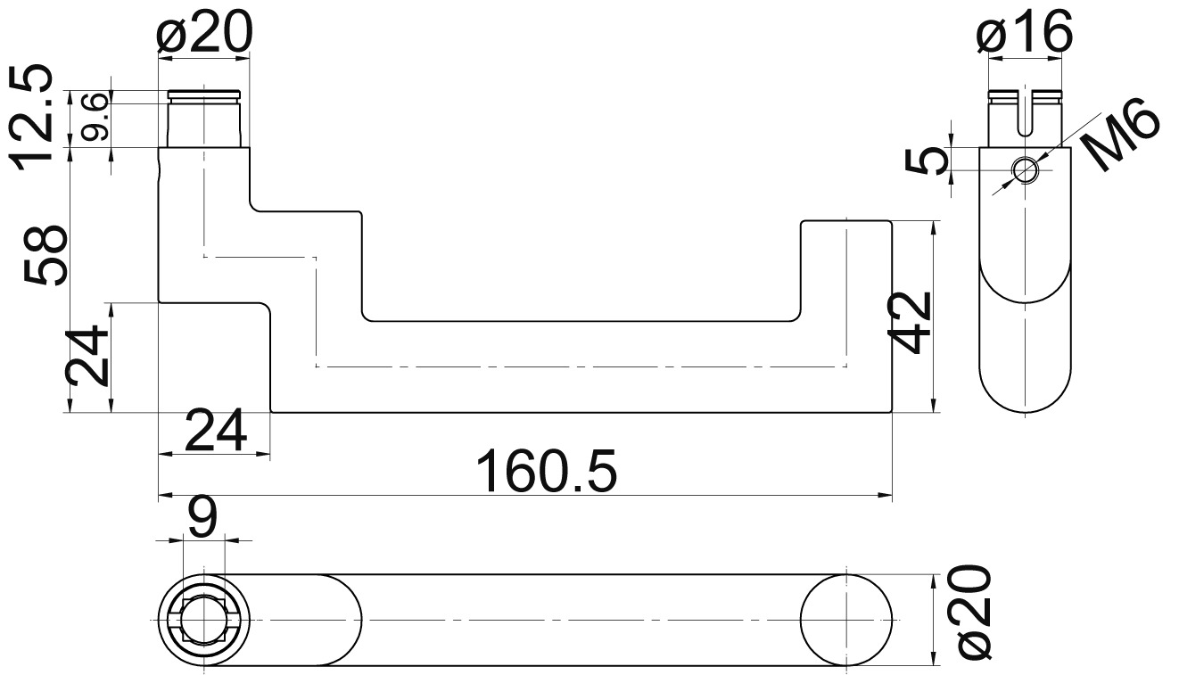 Türdrücker-Halbgarnitur MEGA 33.237/34.190