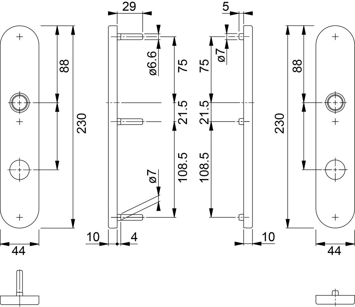Türschilder HOPPE E353H Sertos®