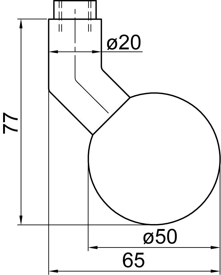 Türknopf-Halbgarnituren gekröpft