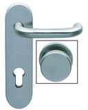 Wechselgarnituren U-Form mit feststehendem Knopf für Feuerschutztüren NORMBAU