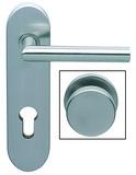 Wechselgarnituren Gehrungs-Form mit feststehendem Knopf für Feuerschutztüren NORMBAU