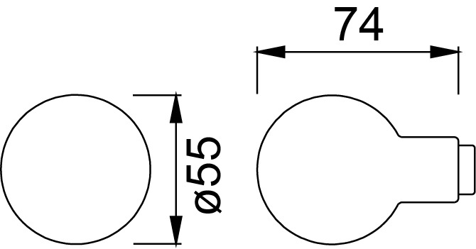 Türknöpfe HOPPE 60L