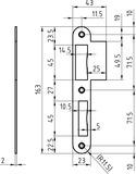 Lappenchliessbleche GLUTZ B-1102