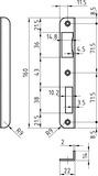 Winkelschliessbleche GLUTZ B-1105