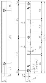 Sicherheits-Schliessbleche MSL B-1854