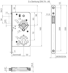 Magnet-Einsteckschloss SSF MG 50 FS