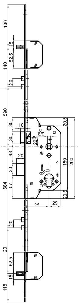 Sicherheits-Mehrpunkt-Verriegelungen MSL BiTribloc 1854