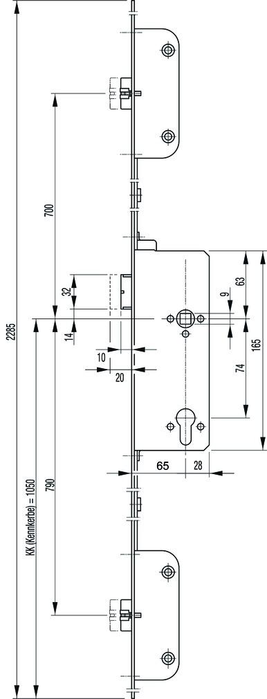 Panikschlösser GU SECURY-Automatic 2110