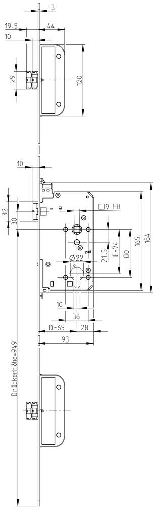 Panikschlösser GU SECURY-Automatic 2116