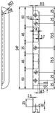 Einfrässchliessbleche GLUTZ B-1151