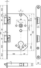 Zweifallen-Einsteckschlösser MSL CASA 1236