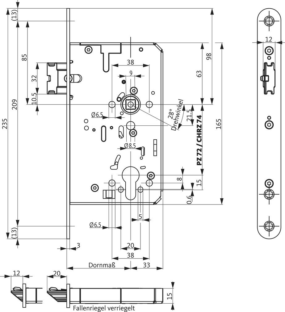 Panikschlösser BKS B-21100 SVP