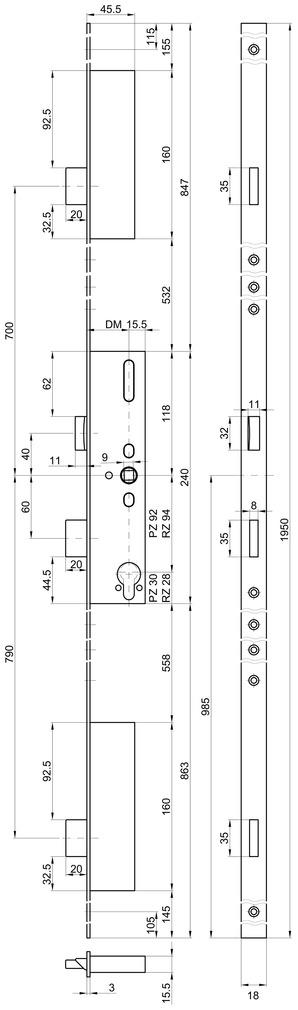 Mehrpunkt-Verriegelungen MSL FlipLock 23421 Basis