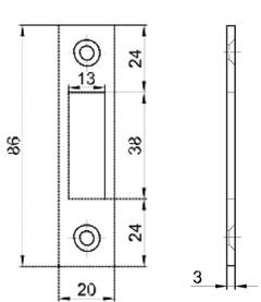 Flachschliessbleche MSL B-1501