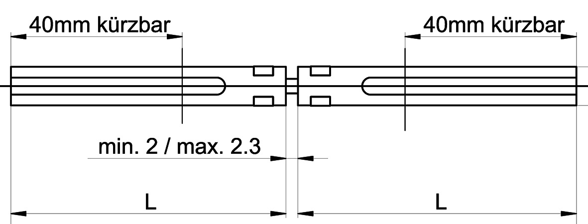 Verbindungsstifte MSL 5968 für Schlösser EFF-EFF