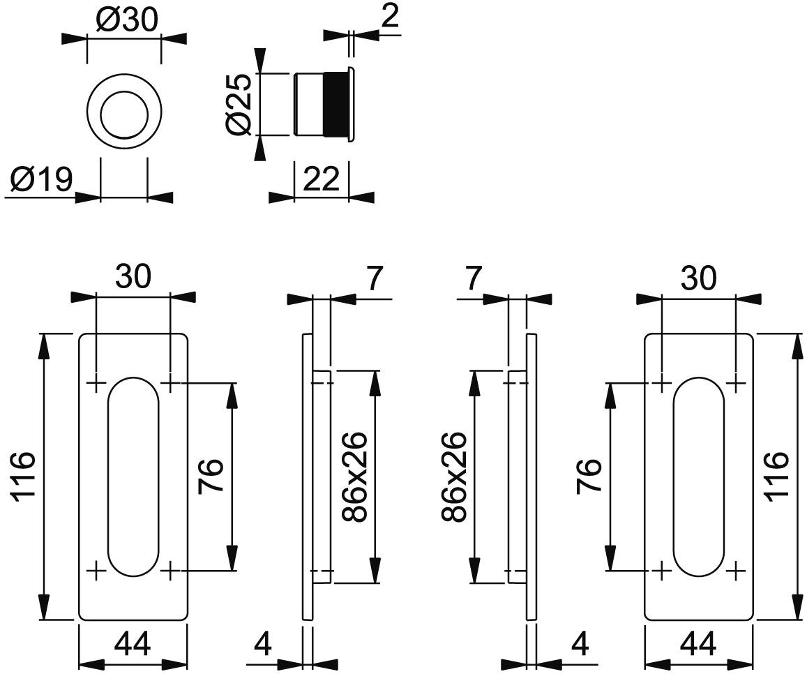 Schiebetürset HOPPE M464-Set 5