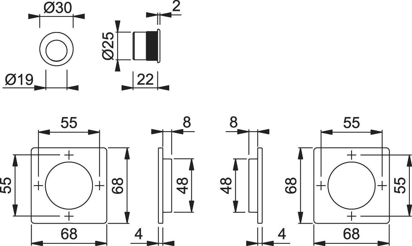 Schiebetürset HOPPE M443-Set 5