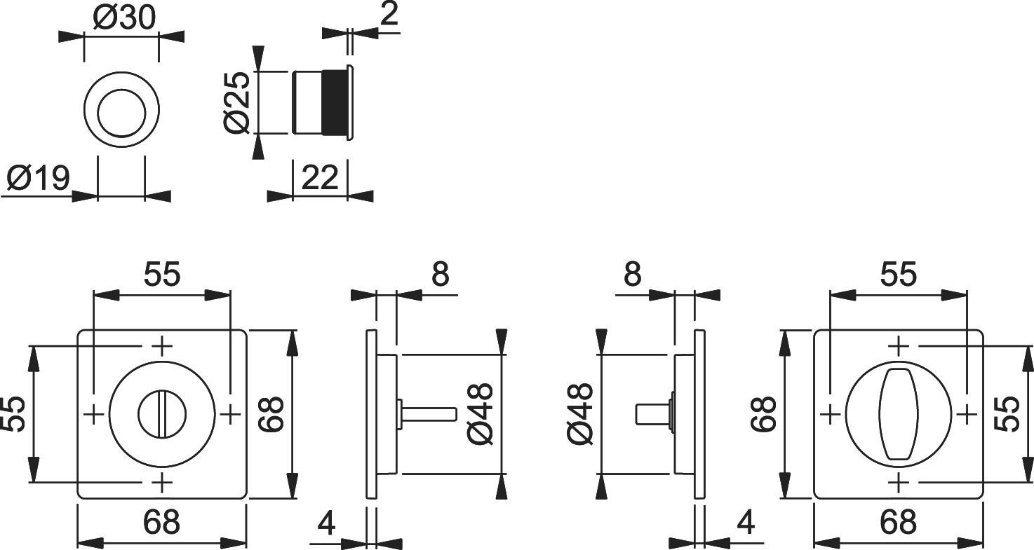 Schiebetürset HOPPE M443-Set 2
