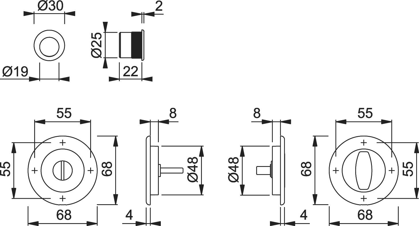 Schiebetürset HOPPE M471-Set 2