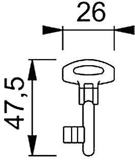 Klappringschlüssel für Schiebetürset HOPPE