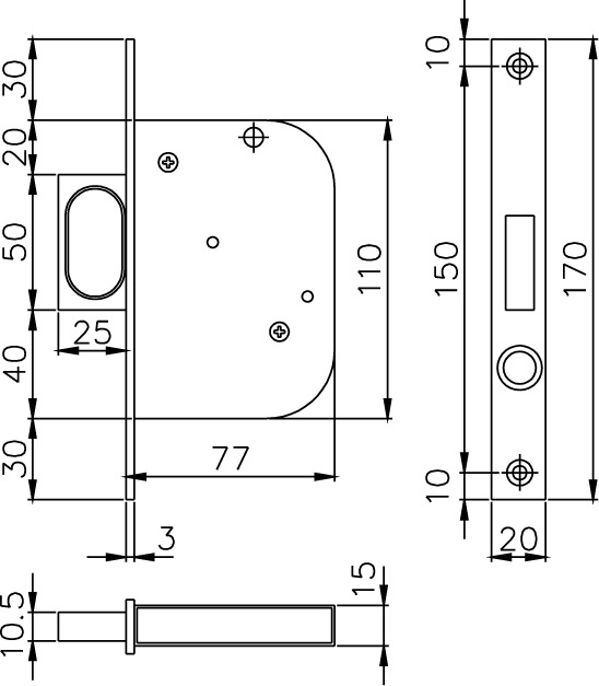 Einsteck-Springgriffe für Schiebetüren MSL 1602