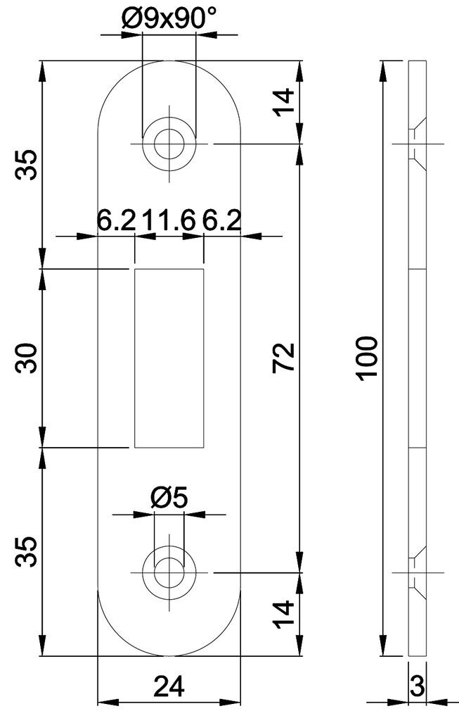 Flachschliessbleche MSL B-1603
